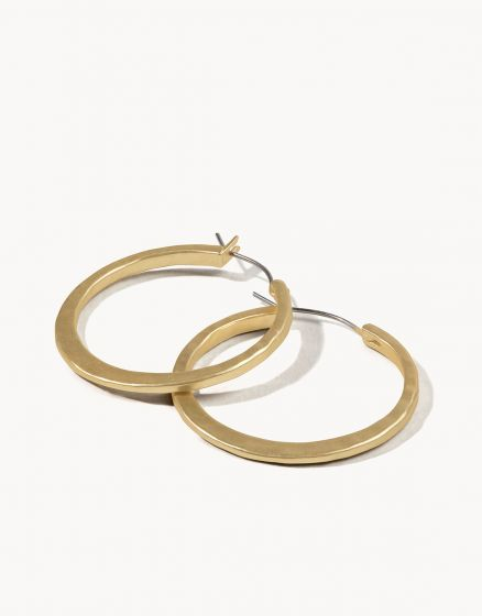 Textured Hoop Earrings Gold