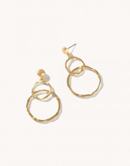 Ring Toss Earrings Gold