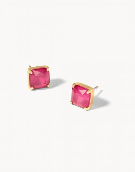 Mermaid Glass Abyss Stud Earrings Merlot