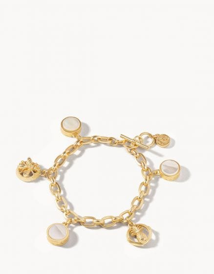 Sticky Sweet Charm Toggle Bracelet Pearlescent