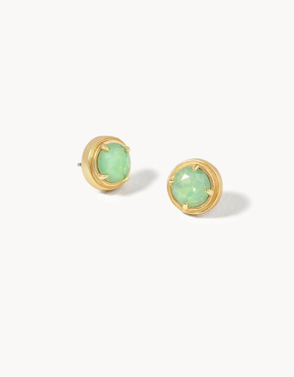 Crema Stud Earrings Sea Foam