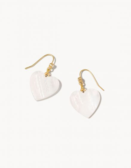 Heart Drop Earrings Pearlescent