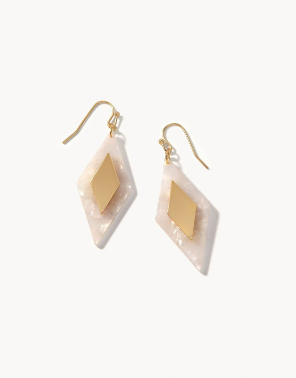 Barbee Earrings White/Gold