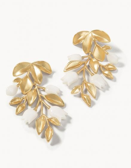 West Bluff Statement Earrings Gold