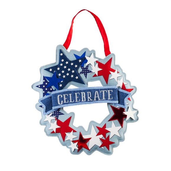 Door Decor Stars and Stripes Wreath