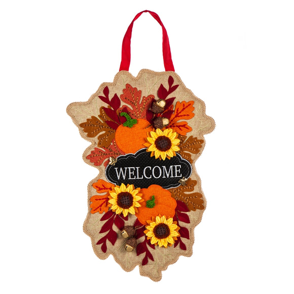 Door Decor Fall Floral Welcome