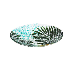Birdbath Natural Elements Crushed Glass