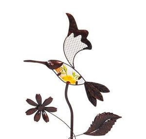 Solar Stake Metal Flying Bird 36""