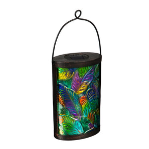 Solar Lantern Tropical Palm Leaves