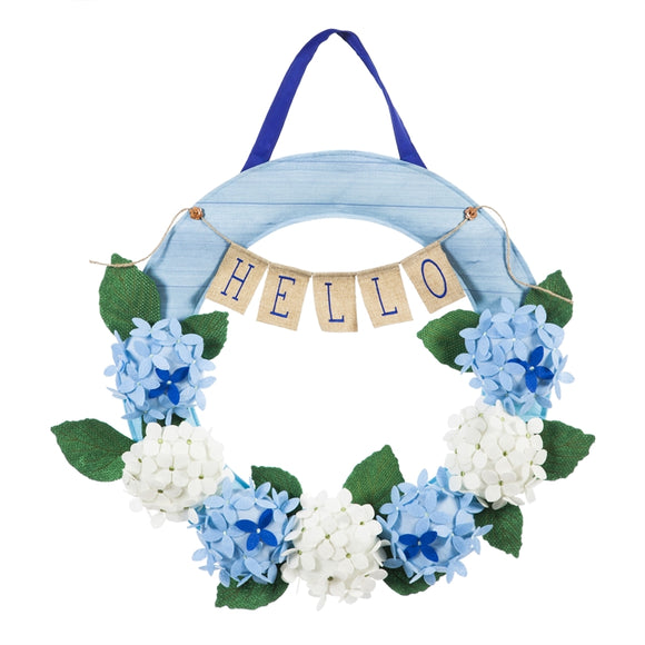 Door Decor Hydrangea Wreath