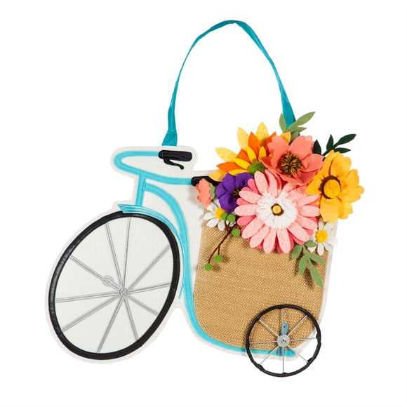 Door Decor Tricycle Flower Basket
