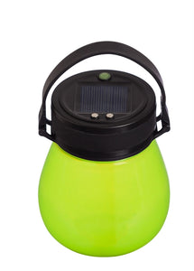 Solar Lantern Frosted Green Firefly