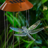 Solar Mobile Iridescent Dragonfly