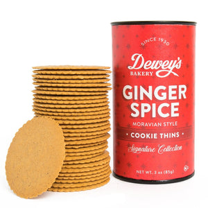 Ginger Spice Moravian Cookies 3oz Tube