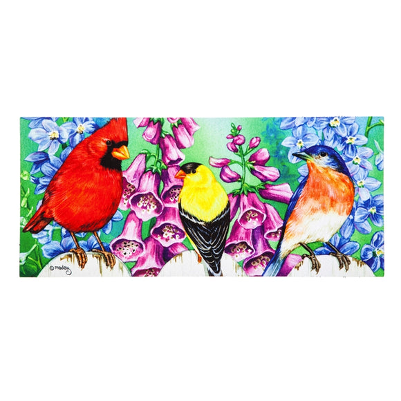 Sassafras Insert Mat Birds on a Fence