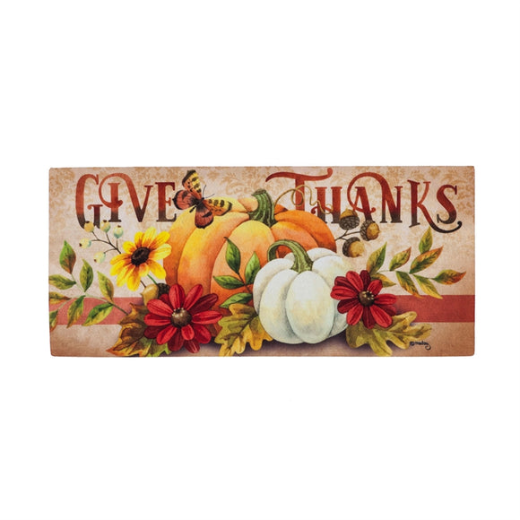 Sassafras Insert Mat Give Thanks