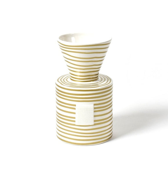 Gold Stripe Mini Vase