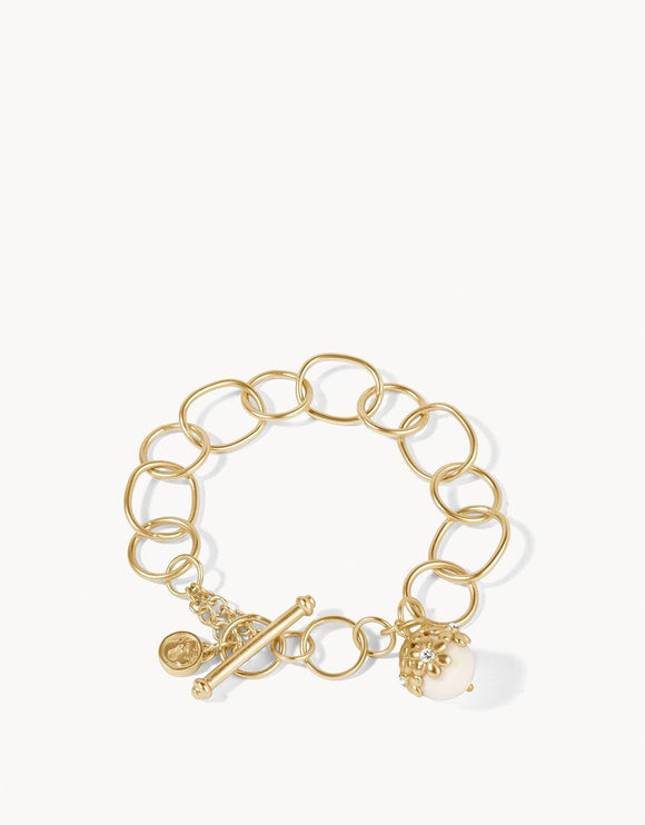 Garden Bauble Toggle Bracelet White