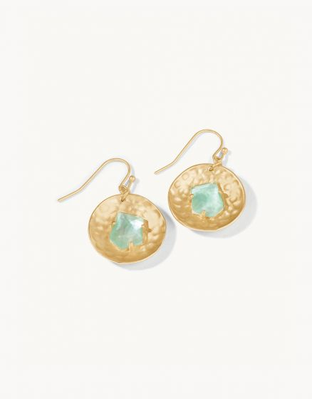 Dune Earrings Aqua Pearlescent