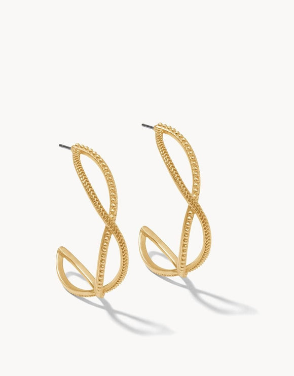 Harbor Wave Hoop Earrings Gold