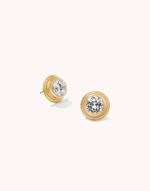 Sparkle Stud Earrings Crystal Gold