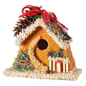 Birdies B&B Chalet Christmas Birdhouse