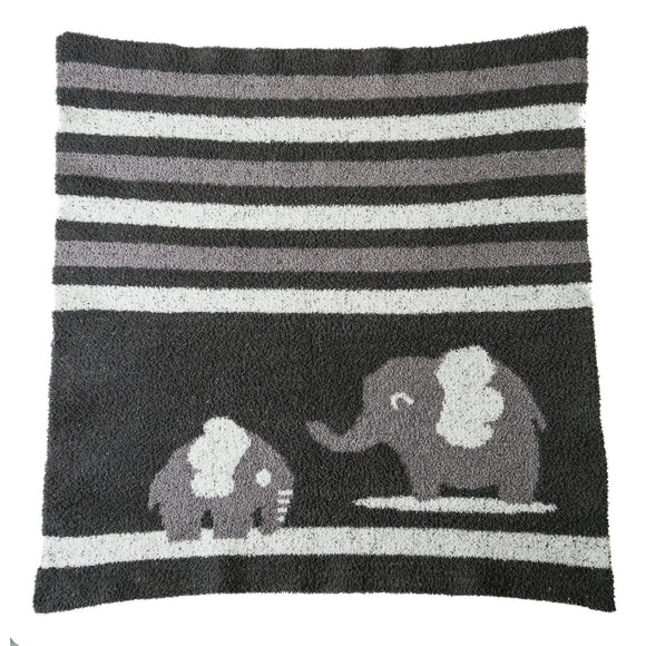 Charcoal Elephant Vie Luxe Baby Blanket