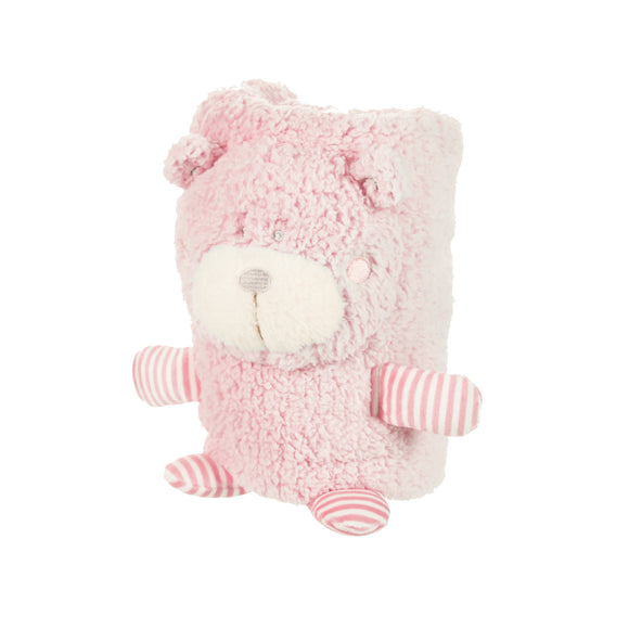 Pink Bear Blanket Buddy