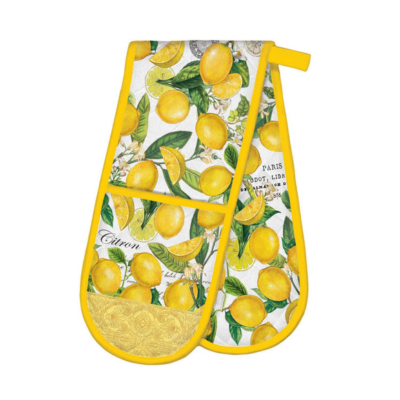 Lemon Basil Double Oven Mitt