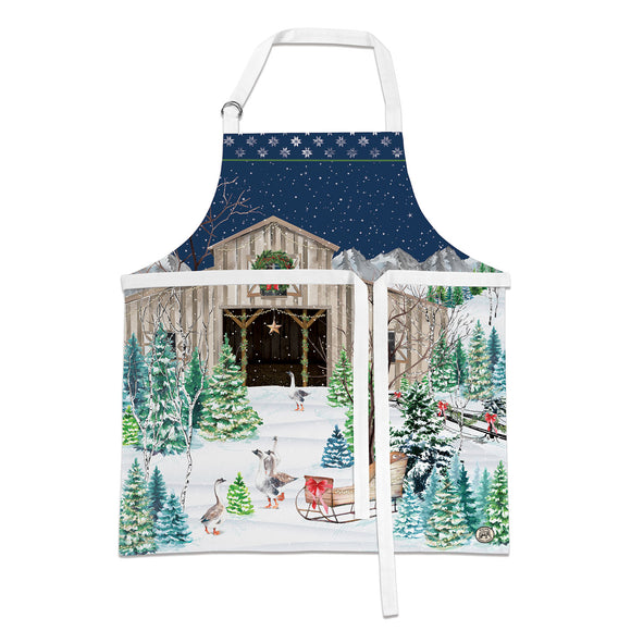 Christmas Snow Apron