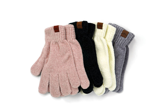 Beyond Soft Chenille Gloves - 4 Colors Available