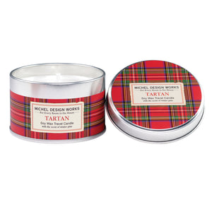 Tartan Travel Candle