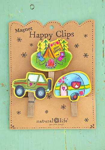 Happy Clips Happy Camper Magnet