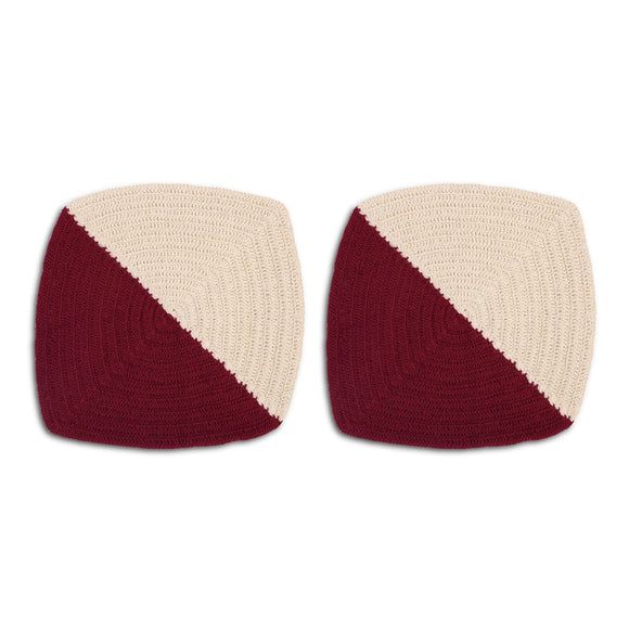 Woven Dishcloth Maroon Set of 2