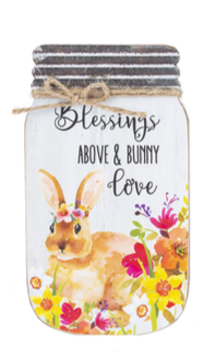 Spring Mason Jar Plaque