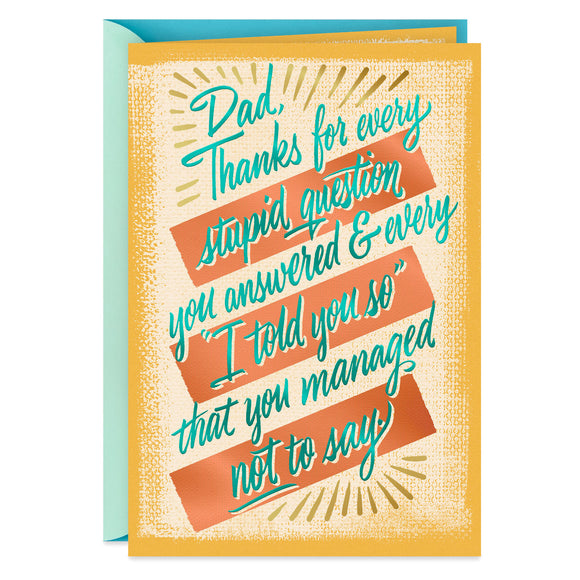Hallmark Dad, So Lucky to Have You Father's Day Card
