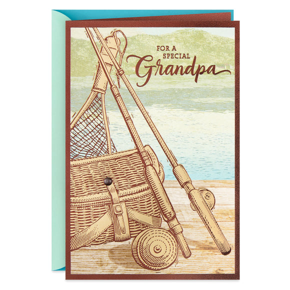 Hallmark Fishing Poles Father's Day Card for Grandpa