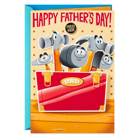 Hallmark Hammers and Tool Box Funny Musical Father's Day Card With Motion