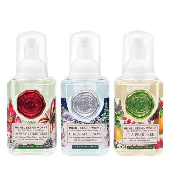 Mini Foaming Hand Soap Set of 3: Merry Christmas, Christmas Snow, In a Pear Tree