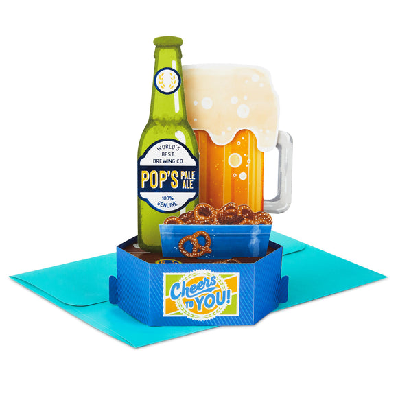Hallmark Cheers to You Beer 3D Pop-Up Father's Day Card