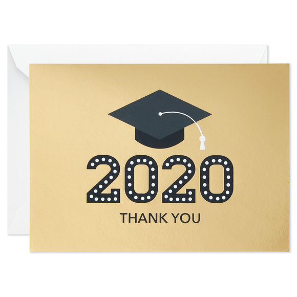 Hallmark 2020 Mortarboard Graduation Thank-You Notes, Pack of 20