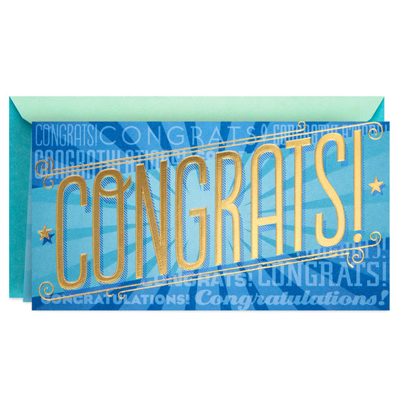Hallmark Success in Everything Money Holder Graduation Card