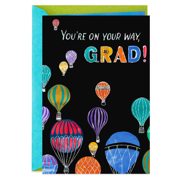 Hallmark Hot Air Balloons High School Graduation Card