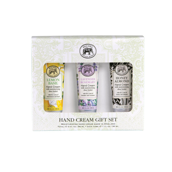 Hand Cream Set: Lemon Basil, Lavender & Honey Almond
