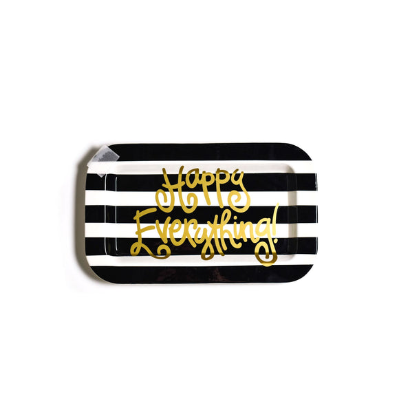 Black Stripe Mini Entertaining Mini Rectangle Platter