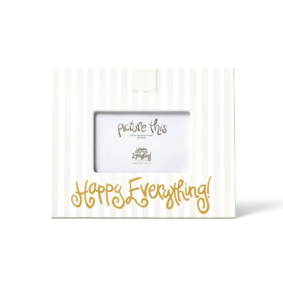 White Stripe Happy Everything Mini Frame