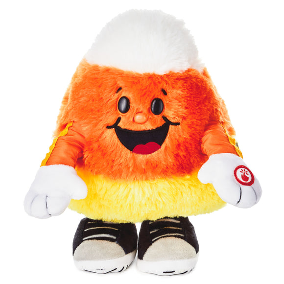Hallmark Candy Corn Dancin' Tricky Treat Singing Stuffed Animal With Motion, 10