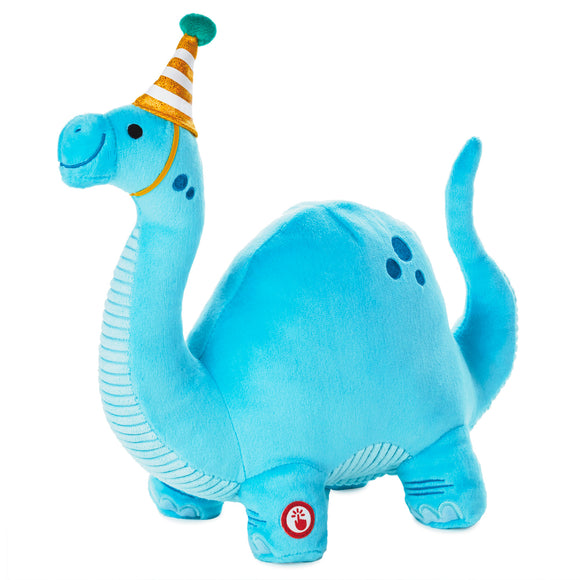 Hallmark Dino-mite Birthday Dinosaur Musical Stuffed Animal, 10