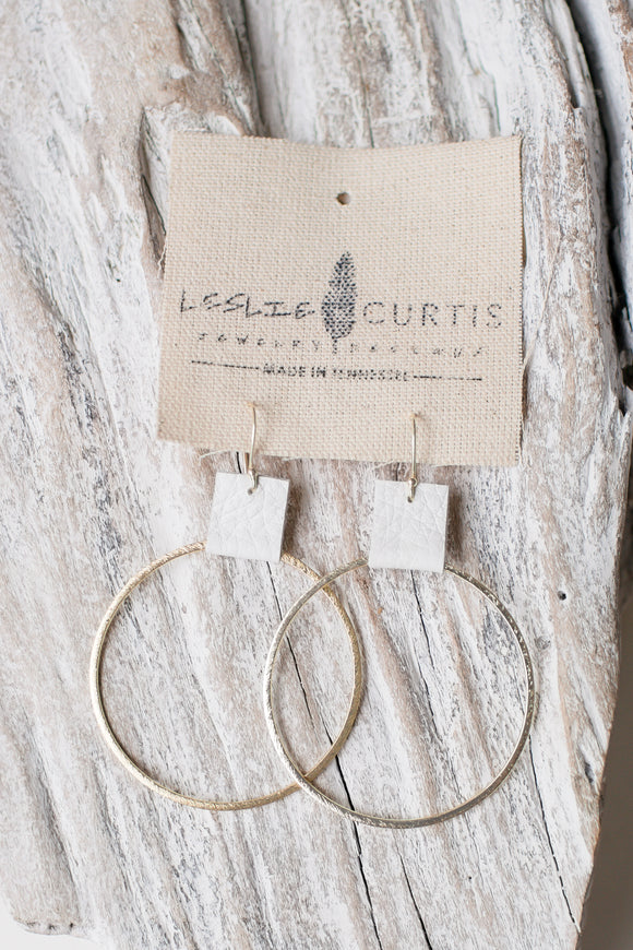 Laura Earrings White/Gold