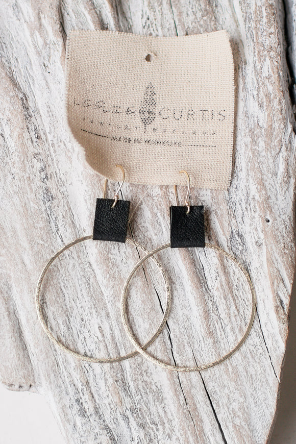 Laura Earrings Black/Gold